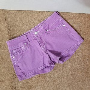 Delia's shorts 1/2 E Morgan purple denim jean